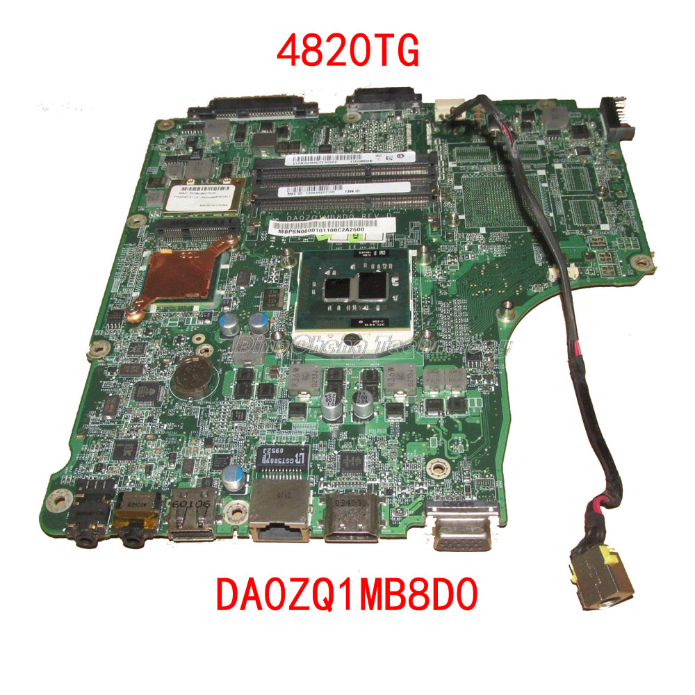 HOLYTIME <font><b>laptop</b></font> <font><b>Motherboard</b></font> For <font><b>Acer</b></font> <font><b>4820TG</b></font> MBPSN06001 DA0ZQ1MB8D0 DDR3 HM55 integrated graphics card 100% fully tested image
