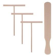 4 шт. посуда для блинов блинница тортильская деревянная распорка и шпатель, раскладочные инструменты грабли для еды, подставка для дома, ресторана