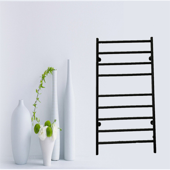 Free Shipping  Wall Mounted Towel Warmer ,Bathroom Accessories Racks,Heated Towel Rail Stainless Steel 304 Matt Black HZ-928A creative wall mounted bathroom roll paper towel racks home wall decoration solid wood paper towel racks bathroom accessories