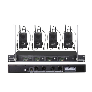 STARAUDIO 4CH VHF Headset Wireless Microphone System 4 Channel Lavalier Lapel Mic For Church KTV Stage Karaoke Party SMV 4000B