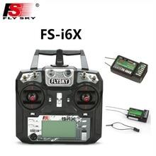 Flysky FS-i6X 2.4GHz 10CH AFHDS 2A RC Transmitter With iA6b iA10B Receiver For Rc Airplane Fox FS-i6X receiver with IA6B rec