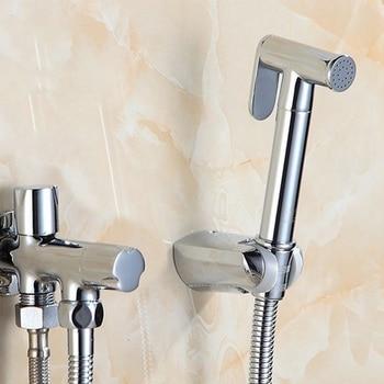 Toilet Bidet Sprayer Set Kit Muslim Shower Handheld Hand Bidet Faucet Bath Tap Hand Sprayer Shower Head Self Cleaning toilet handheld shattaf bidet sprayer shower head with plumbing hose accessories shower faucet muslim shower ducha higienica