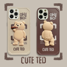 Cute Cartoon Ted Bear for IPhone 11 12 Pro Max 12 Mini Cases IPhone XR XS X 7 8 6 Plus
