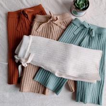 Лидер продаж, вязаные штаны для девочек модные штаны для девочек на осень и зиму От 1 до 6 лет, PP138