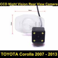Cámara de vista trasera del coche para TOYOTA Corolla 2007 a 2008, 2009, 2010, 2011, 2012, 2013 CCD visión nocturna de aparcamiento marcha atrás cámara