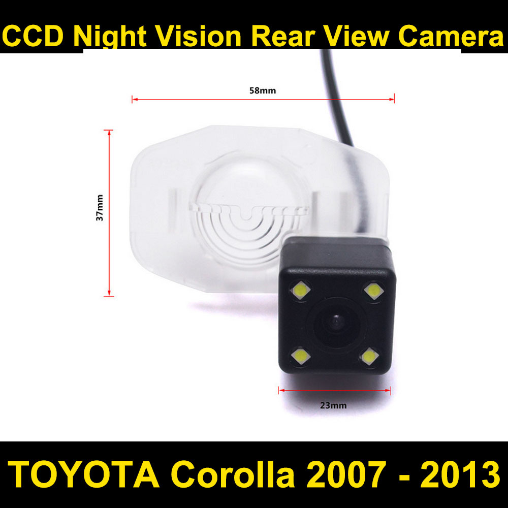 Car rear view camera for <font><b>TOYOTA</b></font> <font><b>Corolla</b></font> 2007 2008 2009 2010 <font><b>2011</b></font> 2012 <font><b>2013</b></font> CCD Night Vision BackUp Reverse Parking Camera image