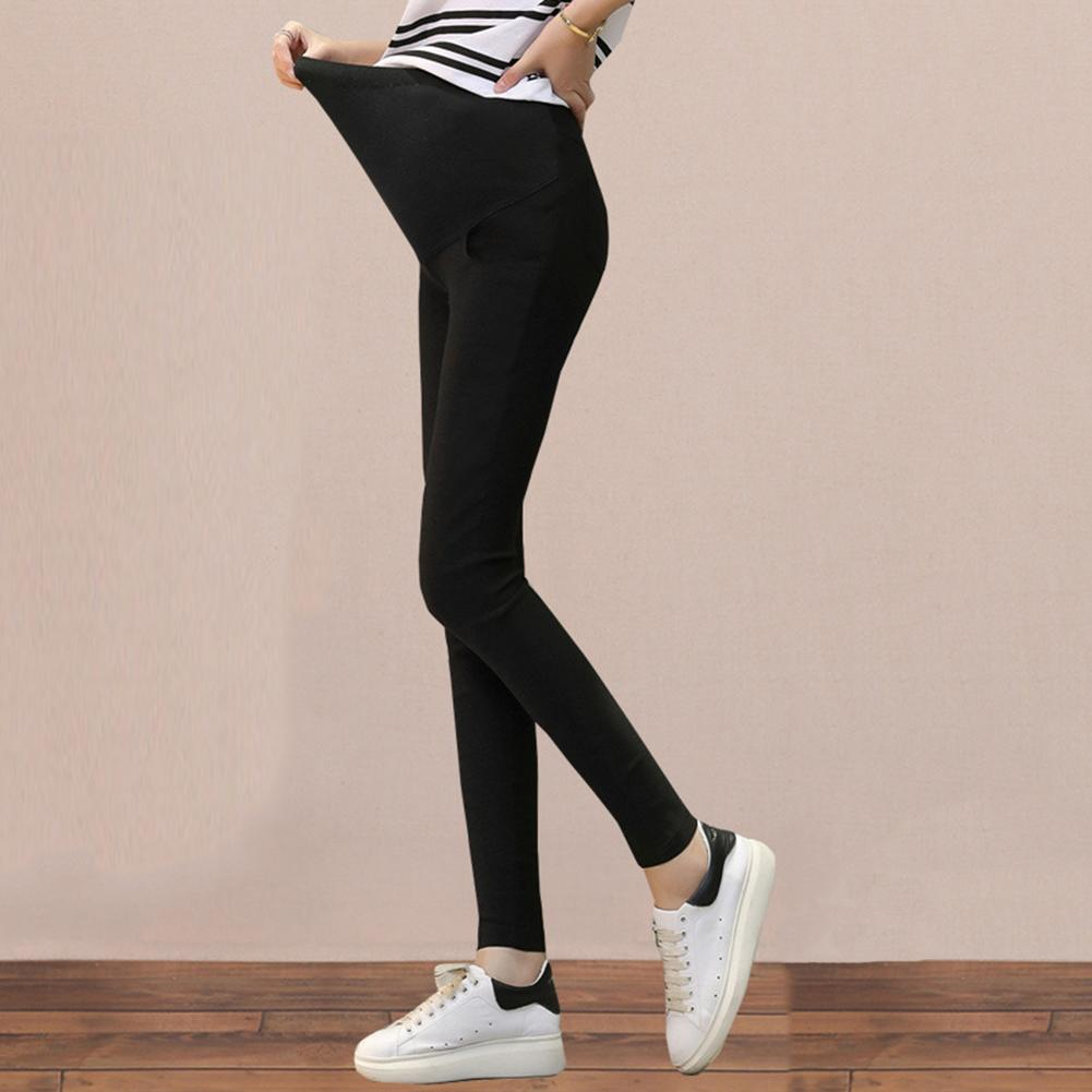 2020 Spring Soft Pregnant Women Over The Belly Leggings Solid Color Maternity Skinny Pencil Pants