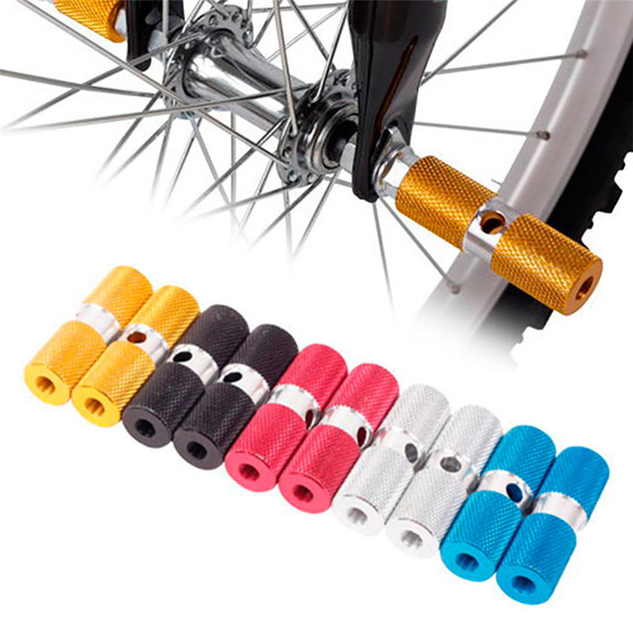 2 PCS Bike Pedals Axle Foot Rest Pegs Anti-Slip Rear Feet Pedals for BMX Cycling