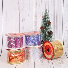 Get more info on the Christmas Hot Stamping Musical Notes Ribbon Five-pointed Star Christmas Ribbon Gift Wrapping Ribbon Christmas Tree DecorationCM