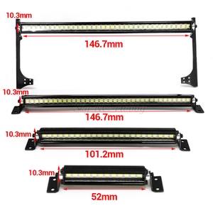 RC Car Roof Lamp 12 24 36 LED Light Bar for 1/10 1:10 RC Crawler Axial SCX10 90046 90060 SCX24 Jeep Wrangler JK Rubicon Body(China)