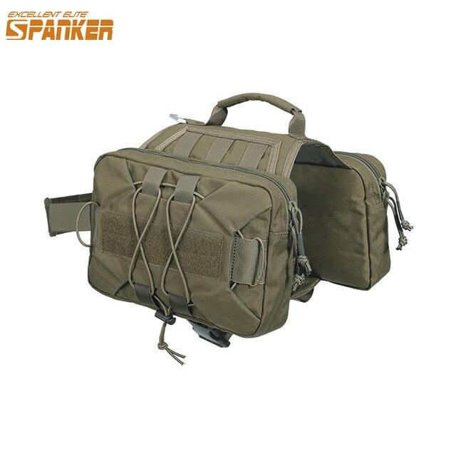 EXCELLENT ELITE SPANKER Dog Pack Hiking Backpack Dog Saddle Bag  for Camping Medium & Large Dog with 2 Capacious Sides Pock