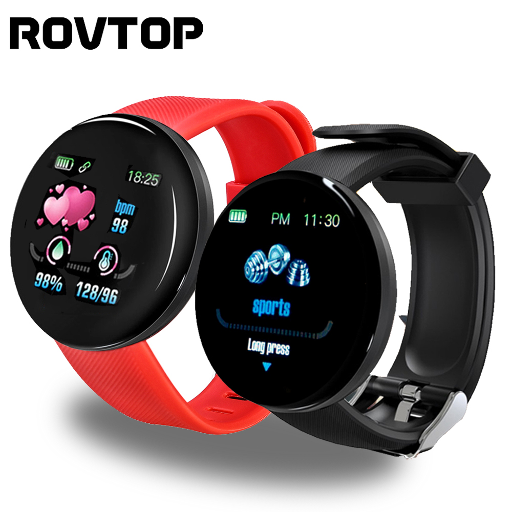 D18 Sport Smart Watch Heart Rate Watch Smart Wristband Sport Blood Pressure Smartwatch Smart Band Waterproof Smartwatch Android