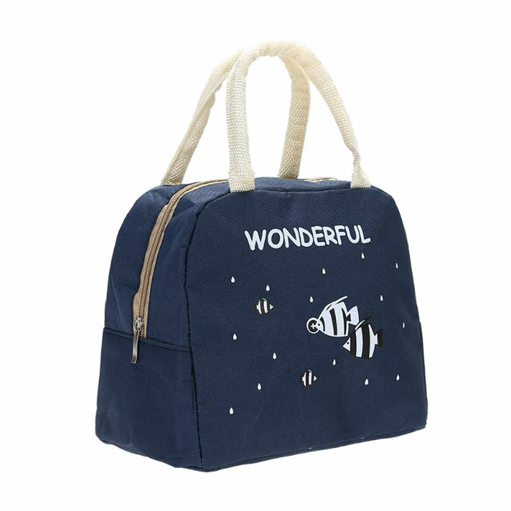 Cartoon Cute Portable Thickening Insulated Lunch Bag Lunch Bag Lunch Box Bag Lunch Container School Food Storage Bags