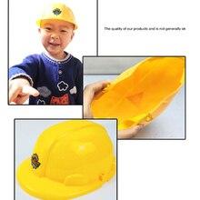 Новый 1шт желтый моделирование безопасность шлем притвориться ролевая игра шляпа игрушка конструкция смешные гаджеты креатив дети дети подарок