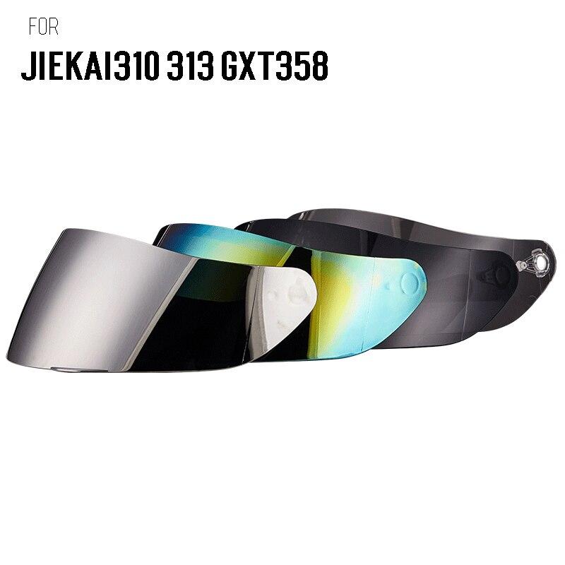 Motocicleta gxt358 jiekai 313 310 rosto cheio capacete viseira lente capacete motocross viseiras rosto escudo cor para jiekai gxt capacetes