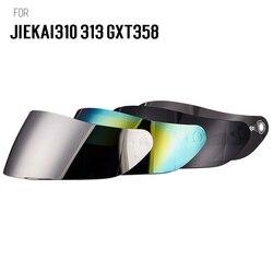 Motocykl GXT358 JIEKAI 313 310 kask fullface Visor obiektyw kask motocrossowy daszki osłona twarzy kolor dla JIEKAI GXT kaski