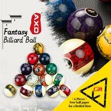 Boule de billard en résine 57.2mm, ensemble de neuf boules stables, motif marbre avec autocollant pendule de billard, accessoires de billard