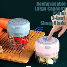 Rechargeable Electric mixer Vegetable Grinder baby food maker blenderFood Processor Chopper Home Kitchen Blender