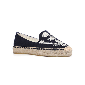 Image 5 - Calçados de tecido de cânhamo femininos, sapatos da plataforma forma do dedo redondo da primavera/verão 2019