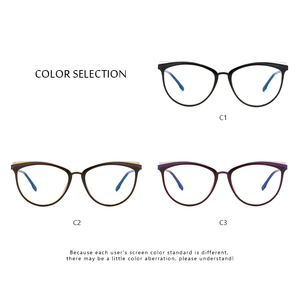 Image 3 - TR90 Womens Glasses Frame Transparent Spectacle Frame Myopia Optical Female Eyeglasses Frame Glasses Without Degree #C18825