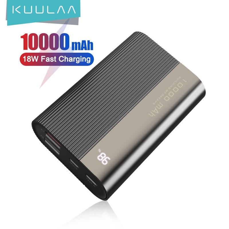 KUULAA Power Bank 10000mAh QC PD 3.0 PoverBank Fast Charging PowerBank 10000 mAh USB Mini External B