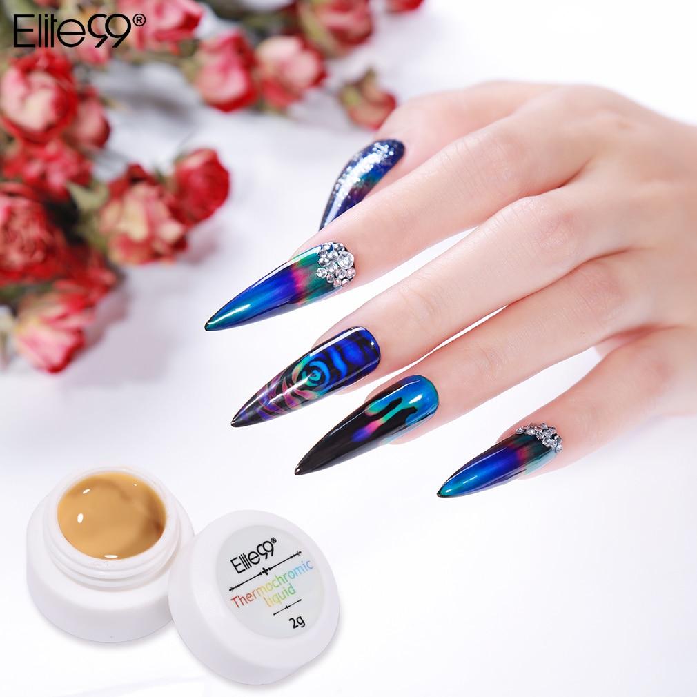 Elite99 Newest Thermochromic Liquid Temperature Color Change Pigment Nail Polish Liquid Crystal Mood Ink Nail Art Decorations