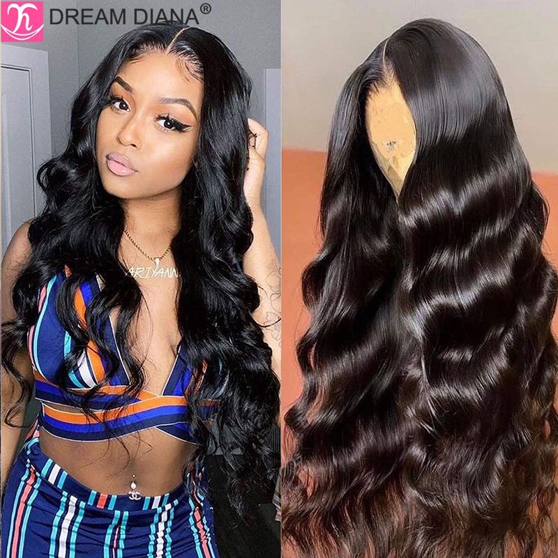 DreamDiana Brazilian Body Wave Lace Front Wig Remy 360 Lace Frontal Wig Glueless 150 Density 4x4 13x4 Lace Front Human Hair Wigs