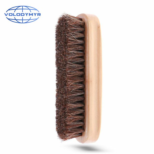 Myjnia samochodowa szczotka do włosia końskiego narzędzia do automatycznego czyszczenia czyste szczegóły akcesoria do myjni samochodowych Reinigung produkty do prania tanie i dobre opinie VOLODYMYR CN (pochodzenie) 14cm wood and bristle Gąbki Tkaniny i szczotki 119g detailing brush car wash car accessories