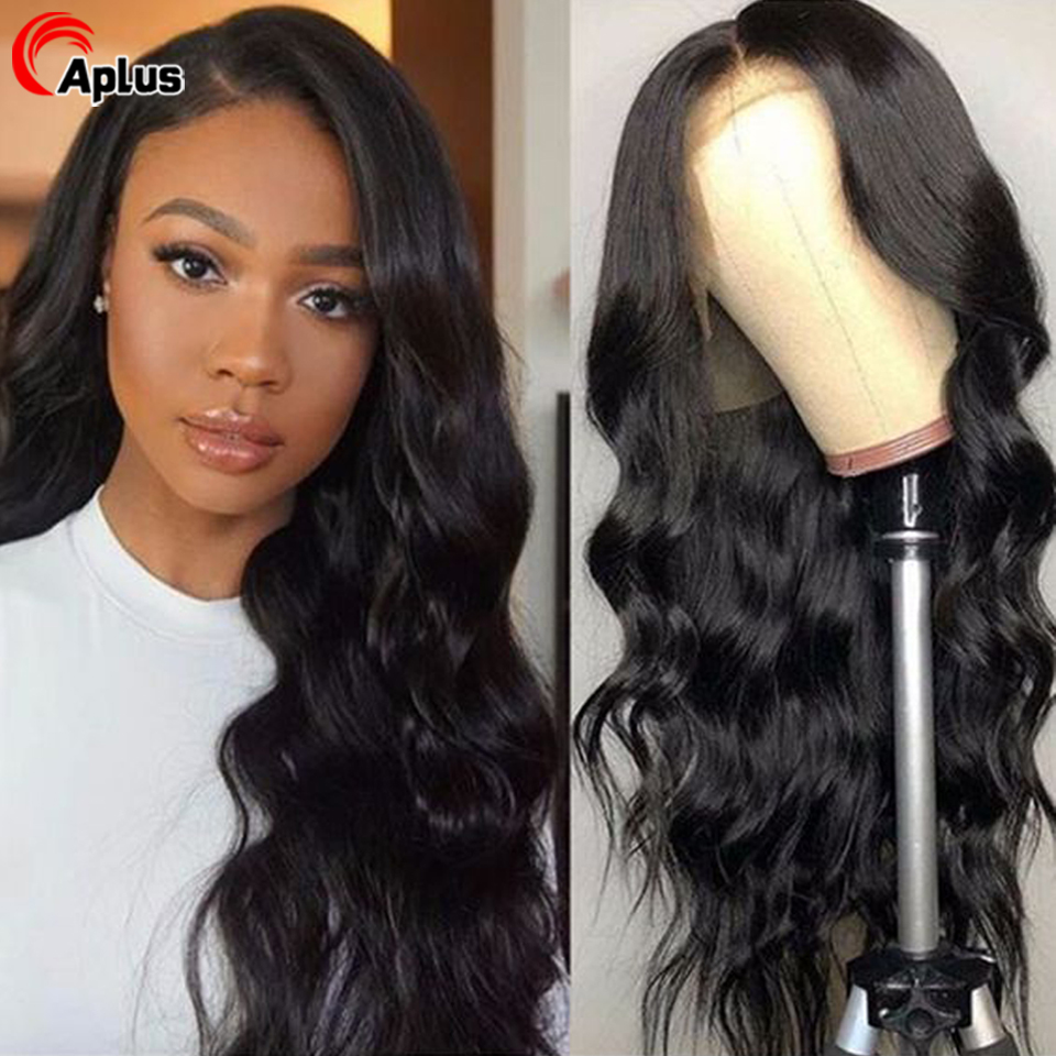 28 30 Inch Lace Front Human Hair Wigs 180 Density Pre Plucked 360 Lace Frontal Wig Peruvian 13x6 Transparent Wig For Black Women