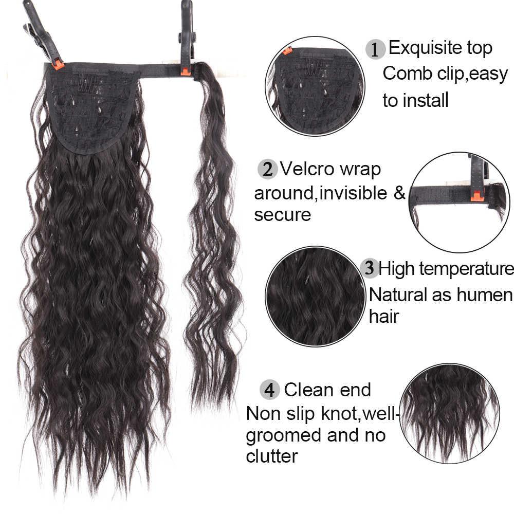 Pelo sintético falso moño Chignons, pieza de Pelo elástico para mujeres, pieza de pelo, moño, cola de pelo, accesorio de cola de caballo Afro