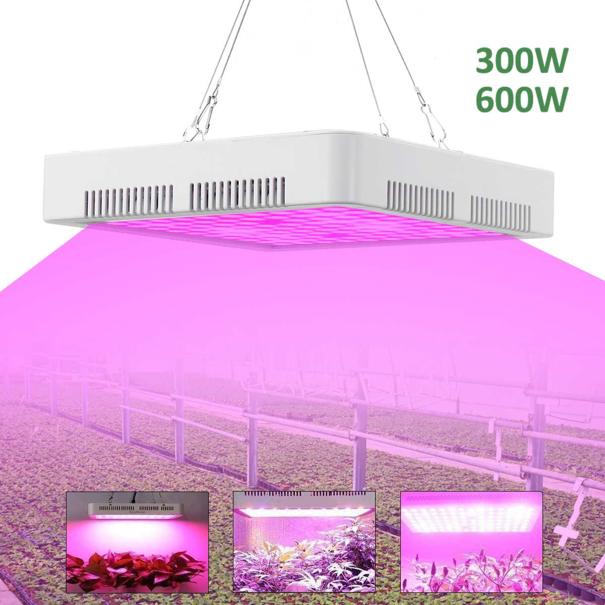 300W 600W Full Spectrum LED Plant Grow Light Lamps For Flower Plant Veg Hydroponics Grow/Bloom Tent Indoor Heat Lamp For Plants
