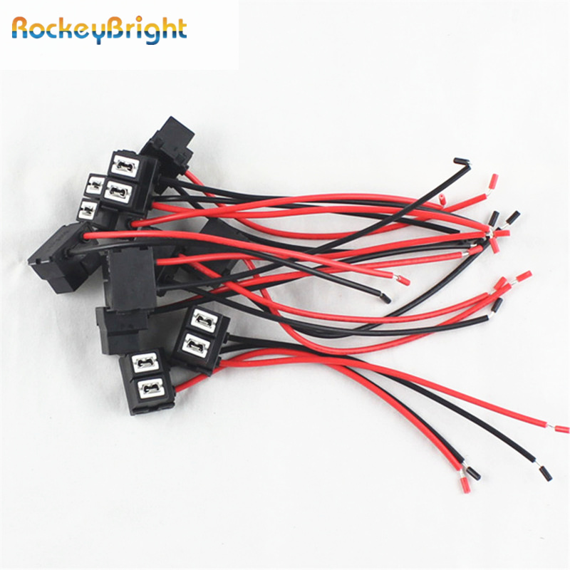 Rockeybright H7 Plug Ceramic Socket Adapter H7 Led Bulb Car Wire Extention Cable H7 Lamp Connector