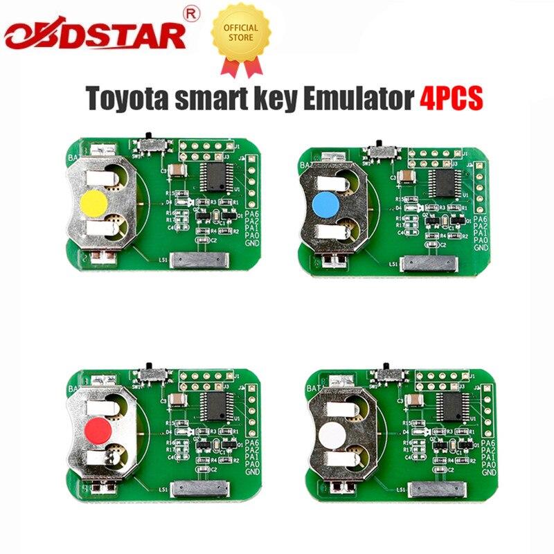 OBDSTAR مفتاح ذكي محاكي لتويوتا 4 قطعة يعمل مع X300PRO4/X300DP/X300DP زائد
