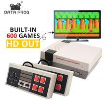 DATA FROG Мини ТВ игровая консоль 8 бит Ретро видео игровая консоль встроенные 620 игры с двойными контроллерами Ручной игровой плеер
