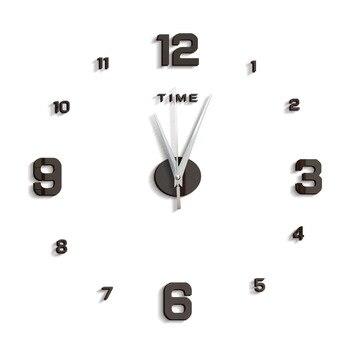 3d wall clock modern design kitchen decorative mirror self adhesive digital vintage large wall clock on the wall watch clock new 14