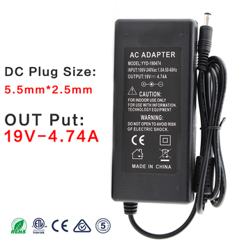 19V 4.74A AC Power Adapter Supply Laptop Notebook 19 V Volt Power Adapter 19V 4.74A Charger For Asus K53B K53BY K53E K53F Laptop 19v3 42a 19v 3 42a 65w 5 5 2 5mm ac power adapter for asus x501a x502c x51 x55a x550cc x550vb v451la x450ca x55vd laptop charger
