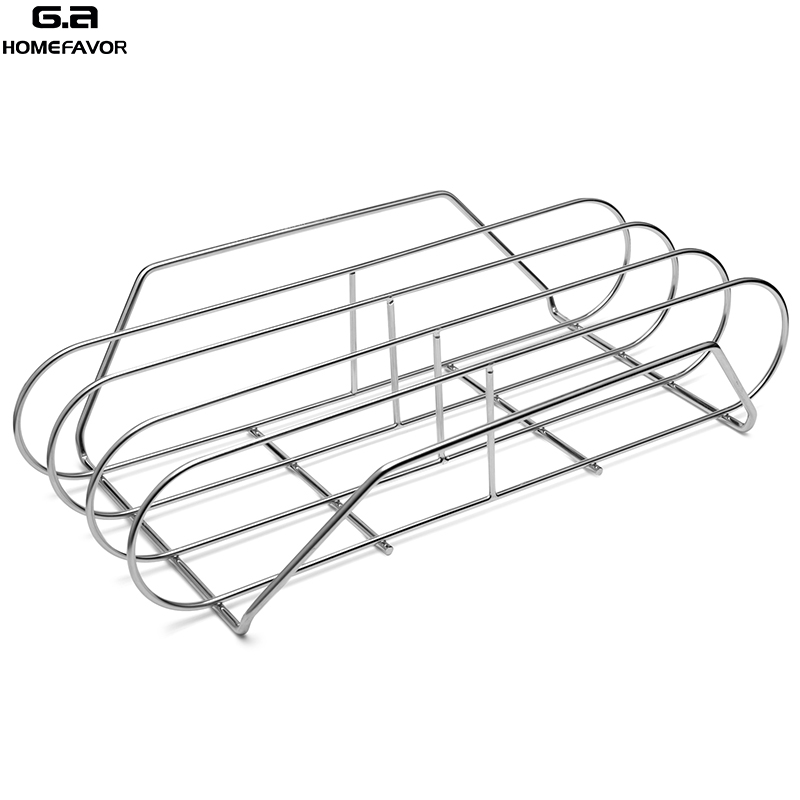 BBQ Ribs Rack for Grill Stainless Steel Barbecue Basket Shelf Factory Customized Cooking Net Outdoor BBQ Accessories