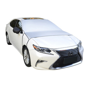 Image 3 - Car windshield snow cover Rear View Mirror Cover universal car cover SUV/small car/truck winter windshield cover sun shade