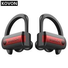 Vislla Ear Hook Sports Earphones Running Wireless Headphones Bluetooth 5.0 TWS Headset Hifi Bass Earbud Earbuds HD Binaural Call