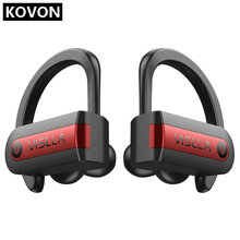 Vislla oreille crochet sport écouteurs en cours dexécution sans fil casque Bluetooth 5.0 TWS casque Hifi basse écouteurs écouteurs HD Binaural appel