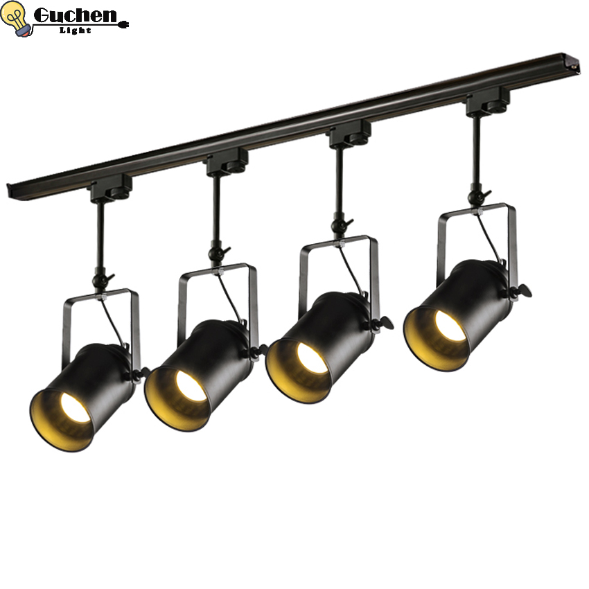 Flexible Ceiling Spotlights For Kitchen Rotatable Adjustable Retro Led Track Lighting Fixtures Rail And Lamp Kit For Office Coffee Shop Wall Art Exhibition Lighting Home Garden Store Ceiling Lighting
