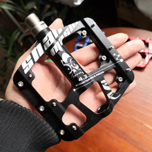 New CNC Aluminum Alloy Sealed 3 Bearing Anti-slip Bicycle Pedals flat foot Ultralight Mountain Bike Pedals MTB Bicycle Parts