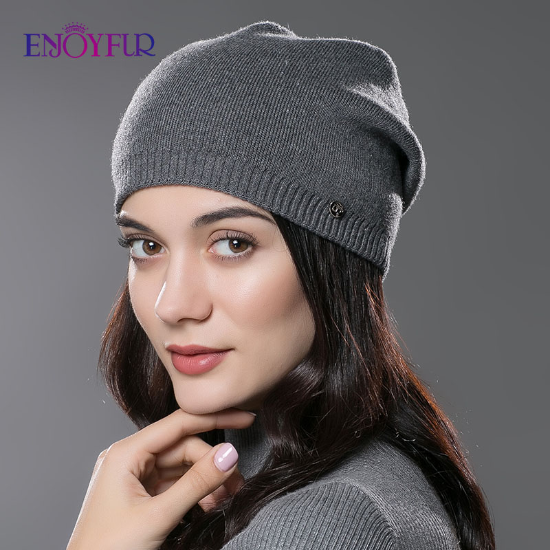 Women's Hat Knitted Wool Hats For Winter Hip-hop Style Hot Sale Gorros For Female Good Quality Casual Caps