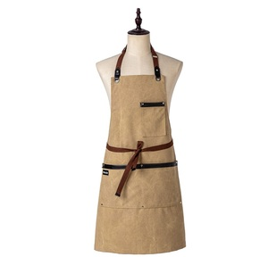 Image 2 - אופנה מטבח סינרי בישול בד ג ינס סינר לאישה איש מסעדה לעבוד סינר חלוקים סינר מבוגר סינר מותאם אישית לוגו