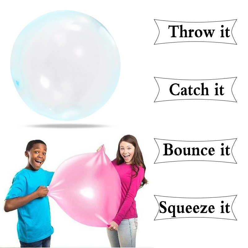 1Pcs Soft Latex Transparante Bubble Bal Water Gevulde Big Air Ball Kids Speelgoed Opblazen Ballon Zomer Pool Party decoratie Benodigdheden