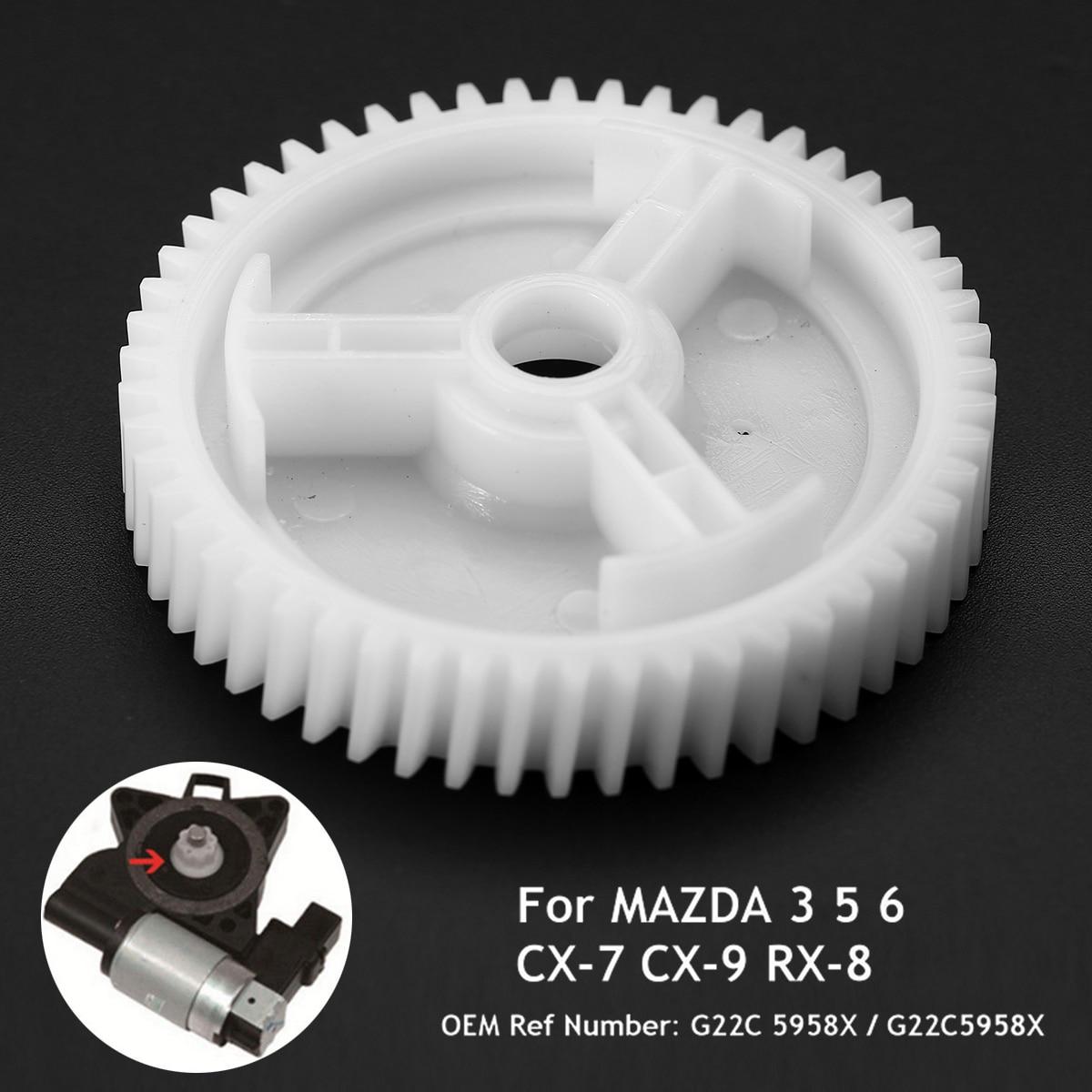 Mayitr 1pc 전면 전원 레귤레이터 창 모터 기어 교체 G22C5958X 마즈다 3 5 6 CX-7 CX-9 RX-8