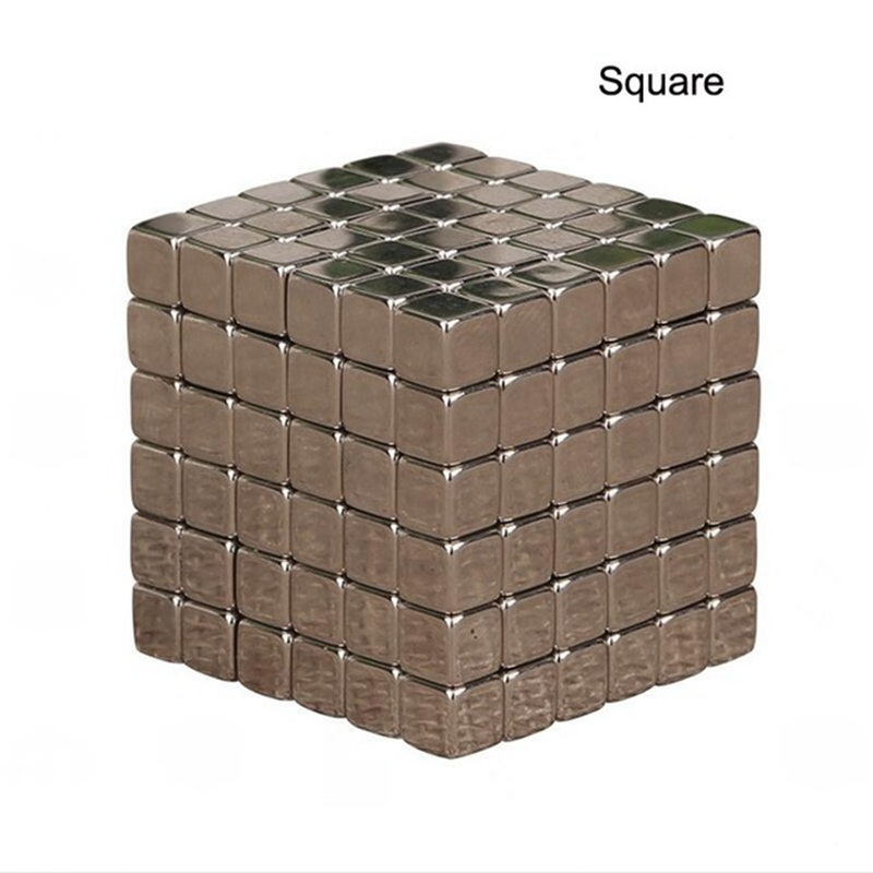 2019 New 5mm Neo Cube 216pcs Metaballs Magnetic Magic Cube Bucky Magcube Blocks Teaching Balls With Metal Box