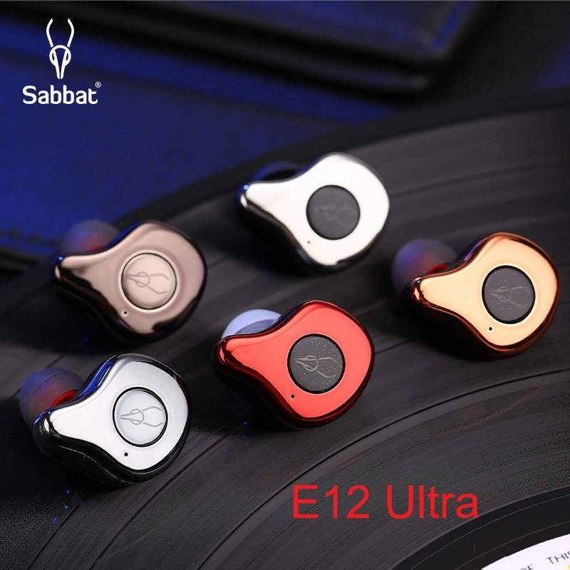 Original Sabbat E12 Ultra TWS BT 5.0 casque sans fil HiFi stéréo écouteurs sport écouteurs avec étui de charge rapide pour la course