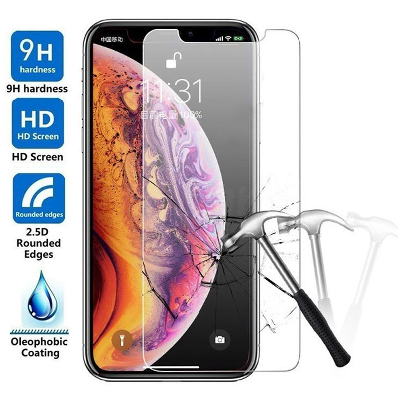 Tempered Glass For iPhone 11 Pro Max SE 2020 Screen Protector Protection For i Phone 8 7 6s Plus XR XS X 10 SE 2 Screenprotector