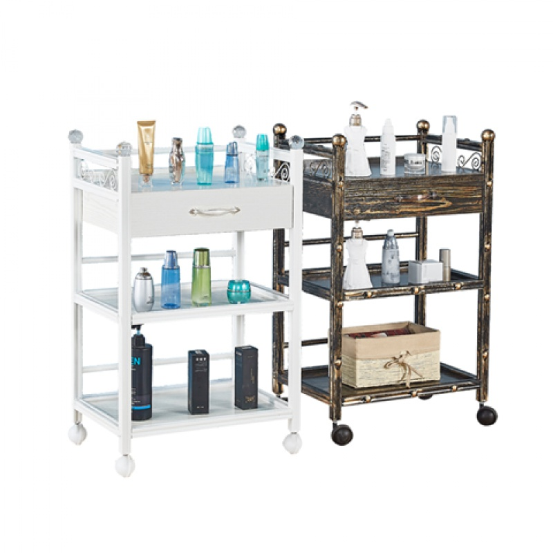 Cosmetology Garden Cart Bring Drawer Cosmetology Turner Have Vehicle Three Layers European Hairdressing Small Garden Cart